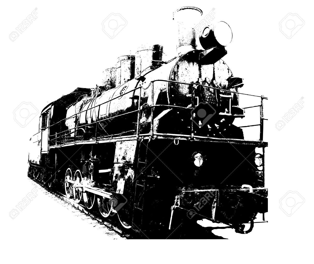 Old fashioned train.  illustration Stock Vector - 7019025