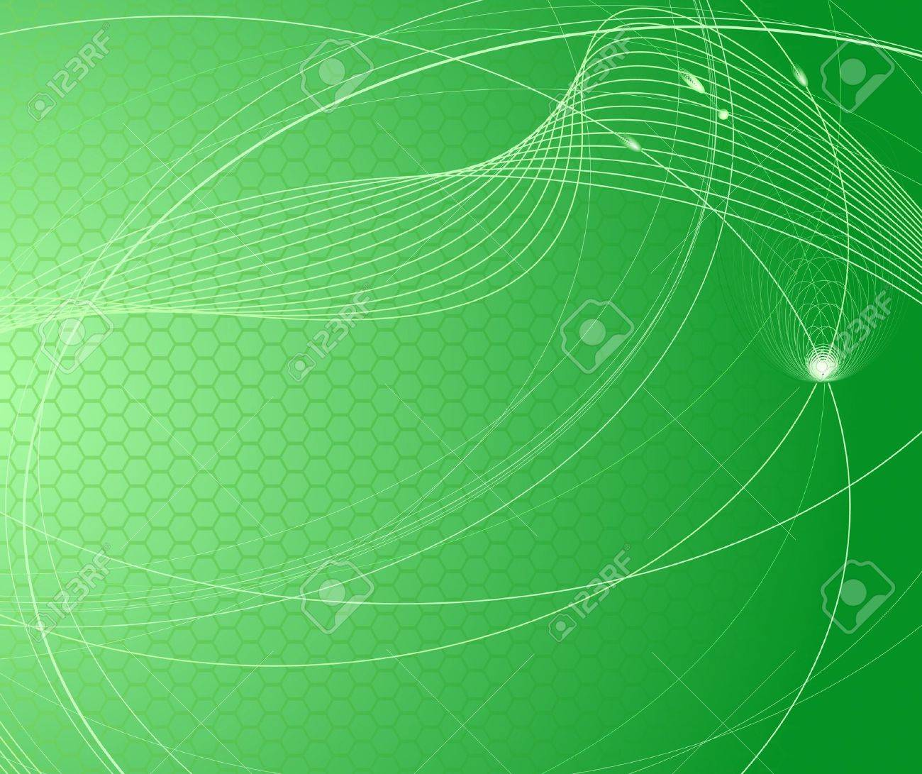 Technology and science abstract green background. illustration Stock Vector - 7019017