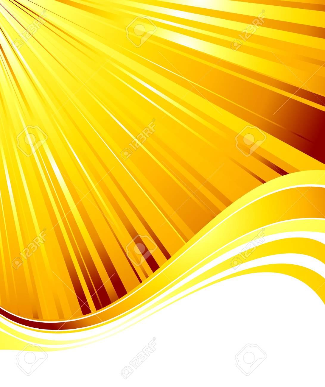 Sunburst abstract summer card.  illustration Stock Vector - 7240857
