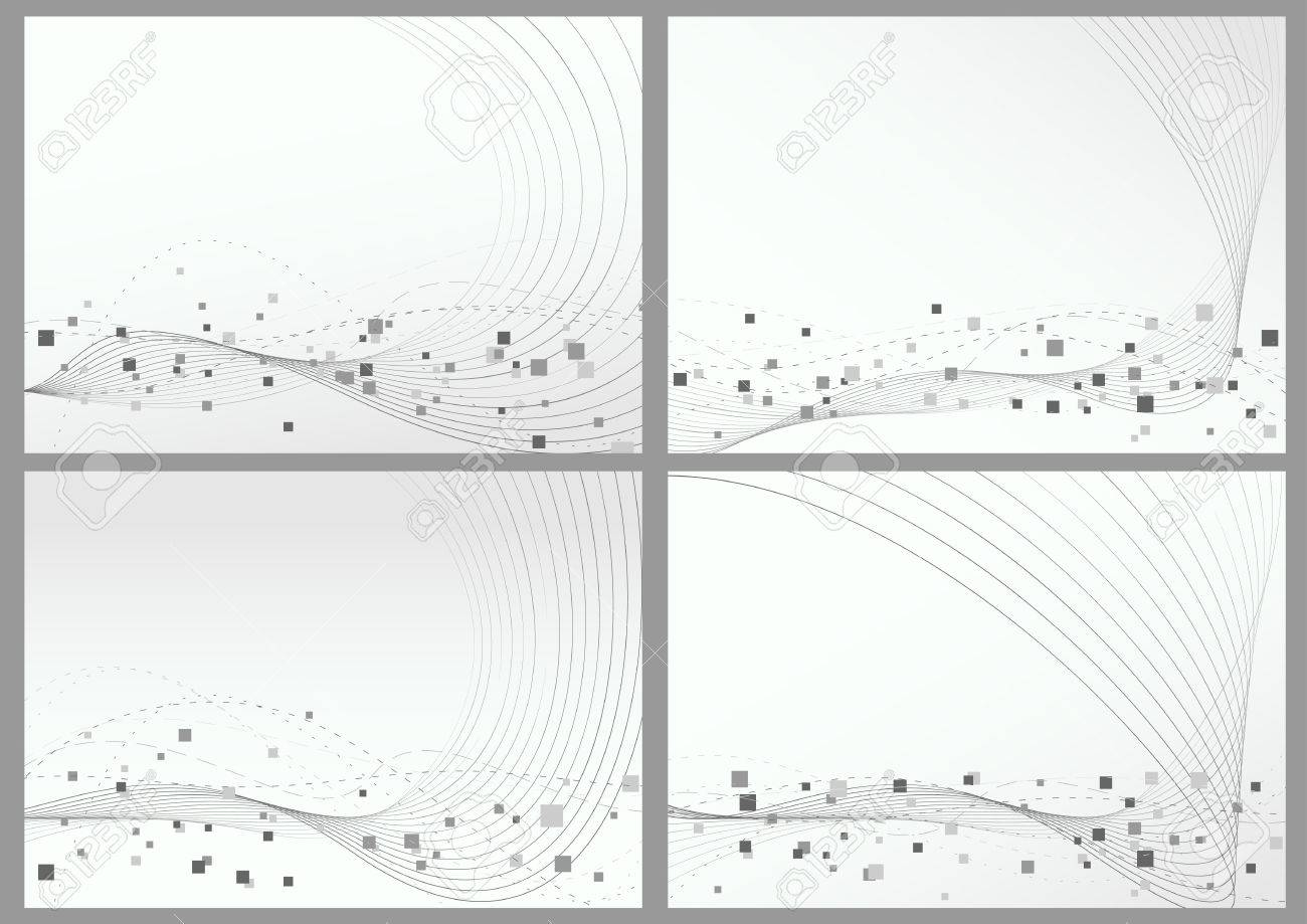 Abstract lines particles backgrounds set. Vector illustration Stock Vector - 26866220