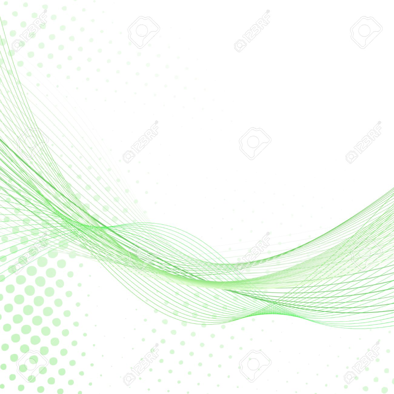 Abstract Fresh Green Lines Certificate Background