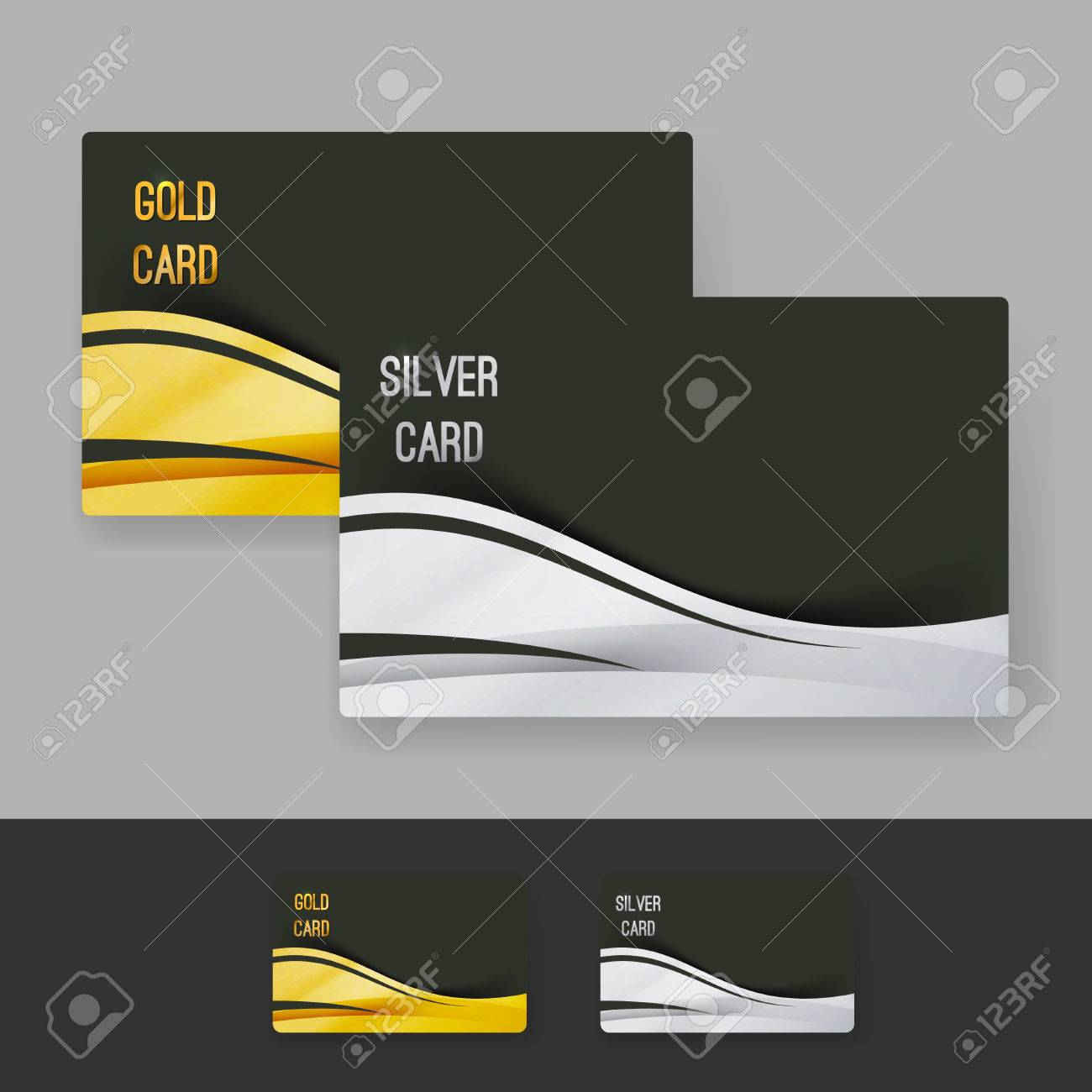 Golden And Silver Membership Luxury Card Design Layout Gift Exclusive  Shopping Club Template. Vector Illustration  Membership Card Design