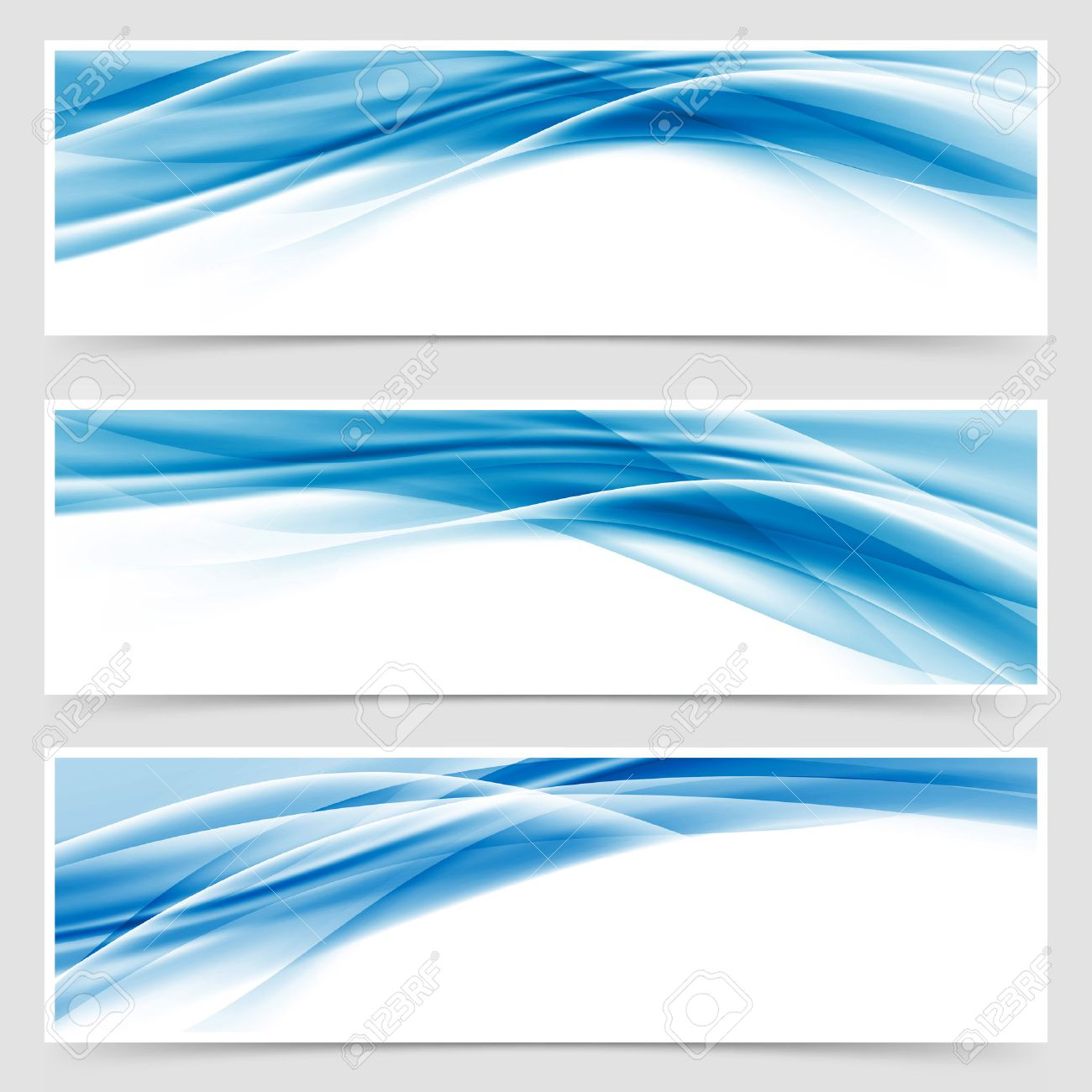 Charmant Beautiful Hi Tech Blue Header Footer Swoosh Collection Web Modern Abstract  Transparent Border Layout.