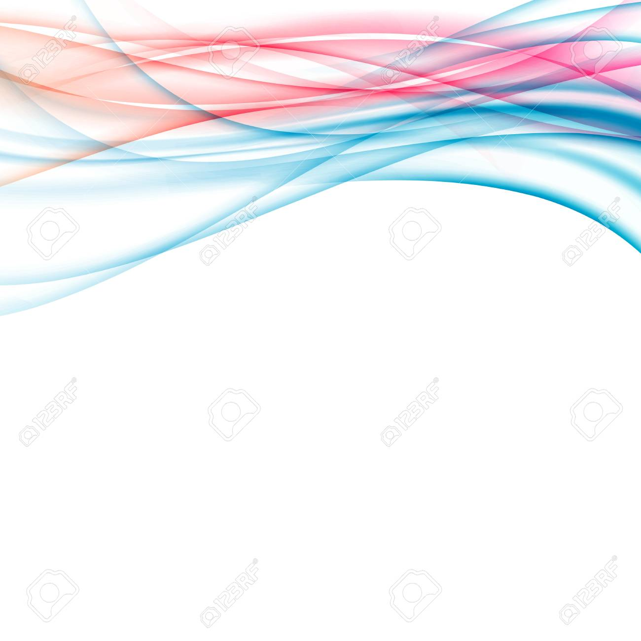colorful red blue gradient border template vector illustration