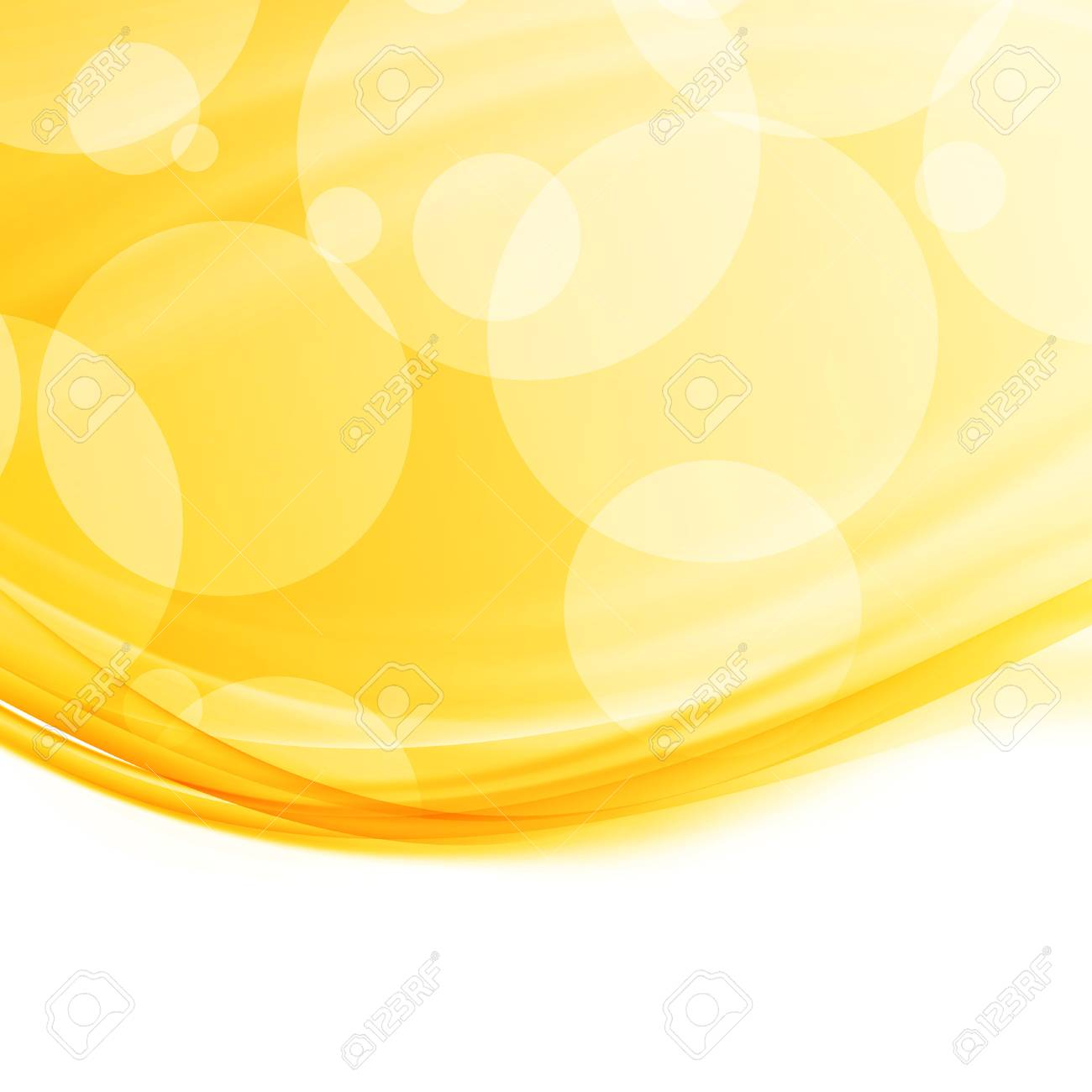Bright Modern Abstract Orange Swoosh Border Background Design