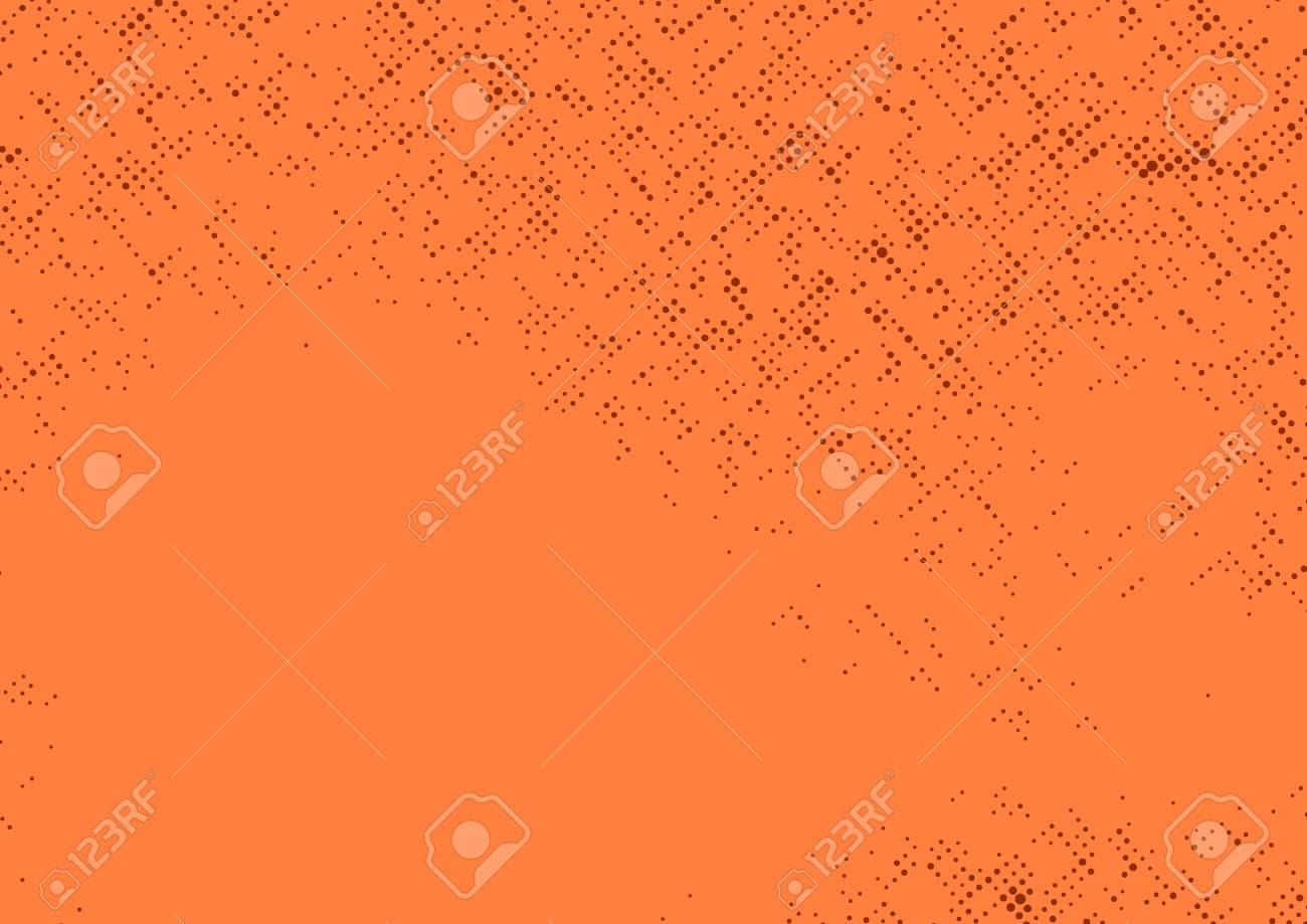 Orange Comic Book Page Abstract Polka Dot Background Vintage