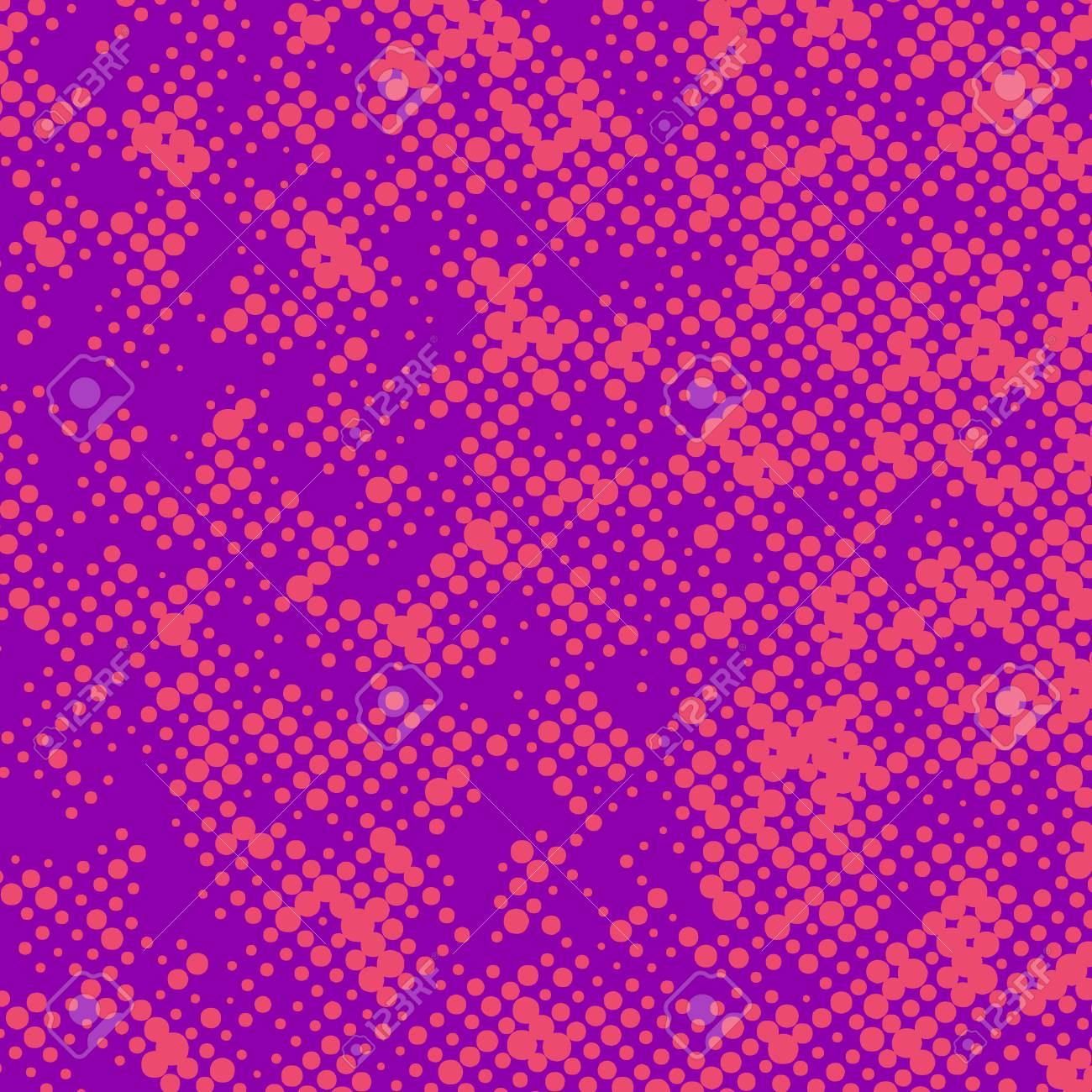 Bright Pink Retro Polka Dot Comic Book Page Background Pattern