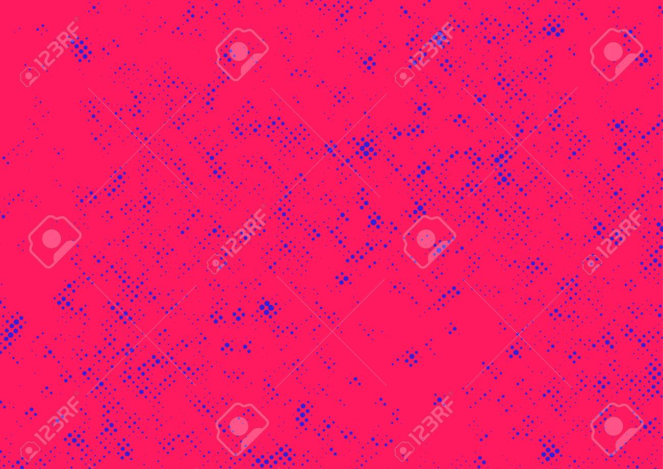 Halftone Abstract Dotted Pop Art Style Background Template Grunge Vintage Ink Texture Design Element