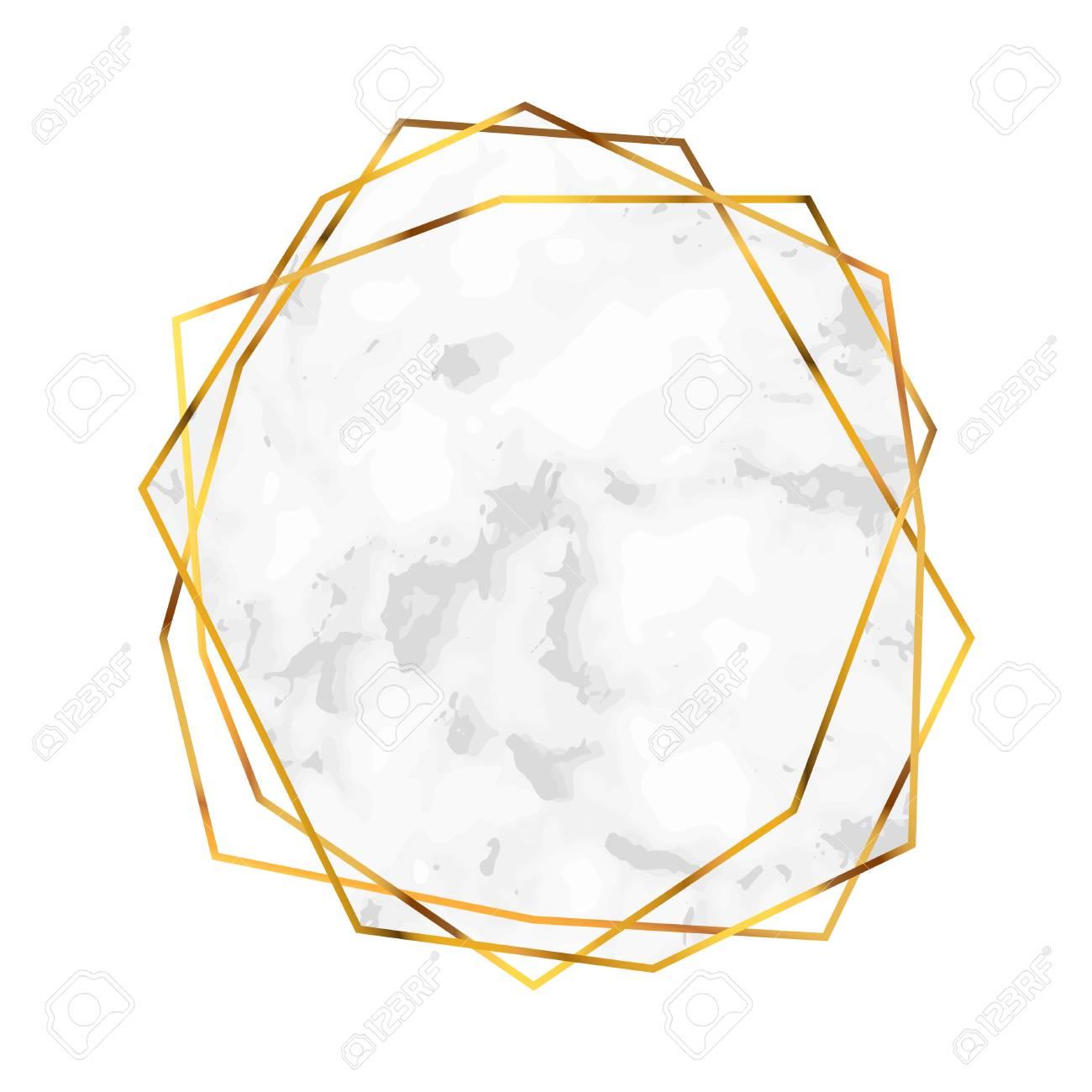 polygonal diamond shape abstract marble shape design template
