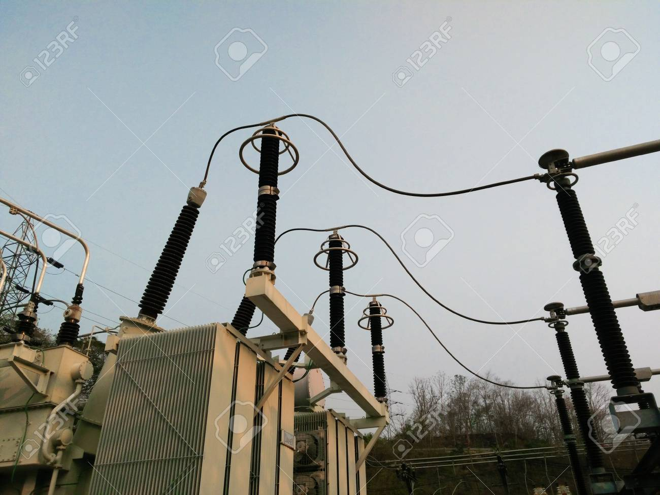 Under Installation Of Outdoor Equipment For Extra High Voltage ...