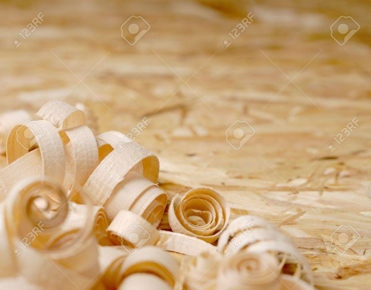Sawdust on the plywood background Stock Photo - 9290784