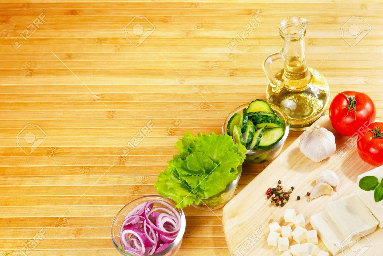 Exceptional Fresh Vegetables On The Chopping Board Closeup Stock Photo   9504205