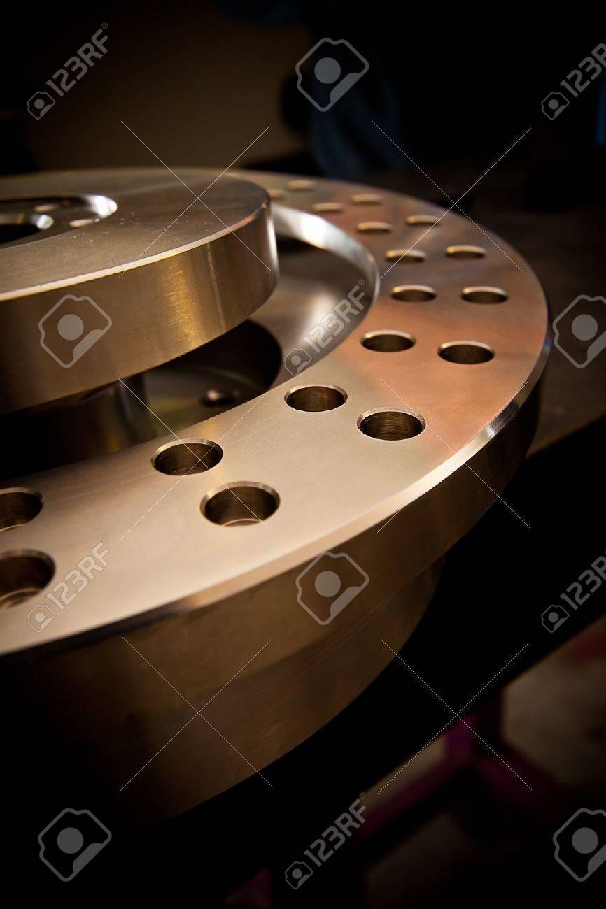 Custom-milled machine part made with CNC machine. - 13955383
