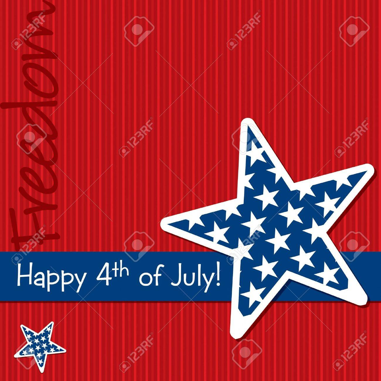 happy 4th of july star cut out card royalty free cliparts vectors