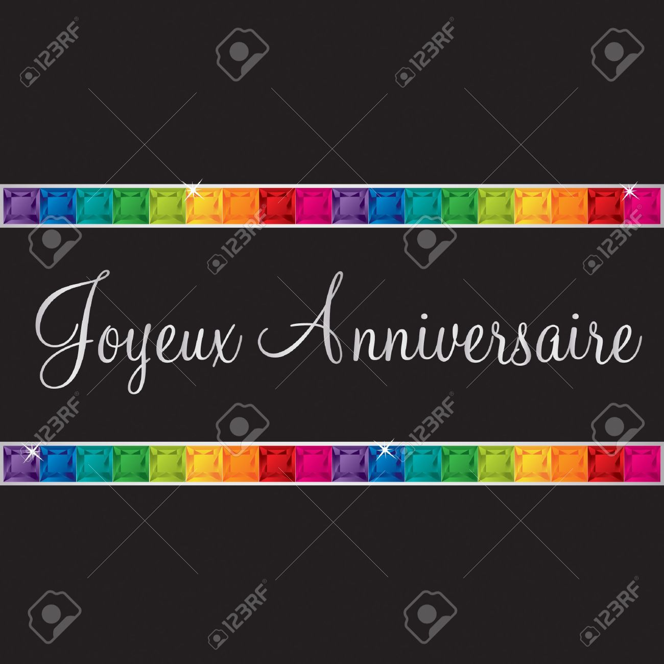 French Happy Birthday Card In Vector Format Royalty Free Cliparts – Happy Birthday Greetings in French