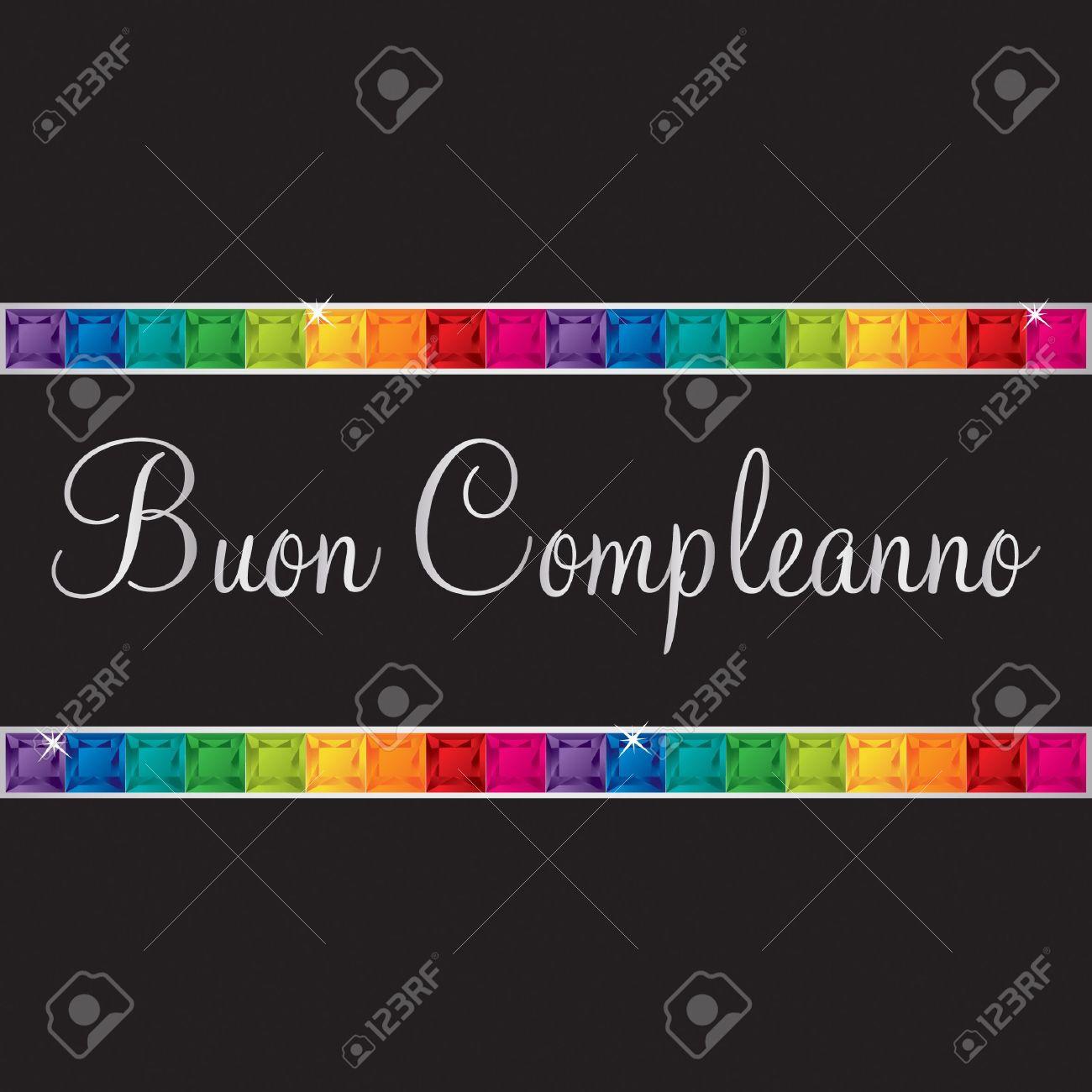 italian happy birthday card in vector format royalty free cliparts, Birthday card