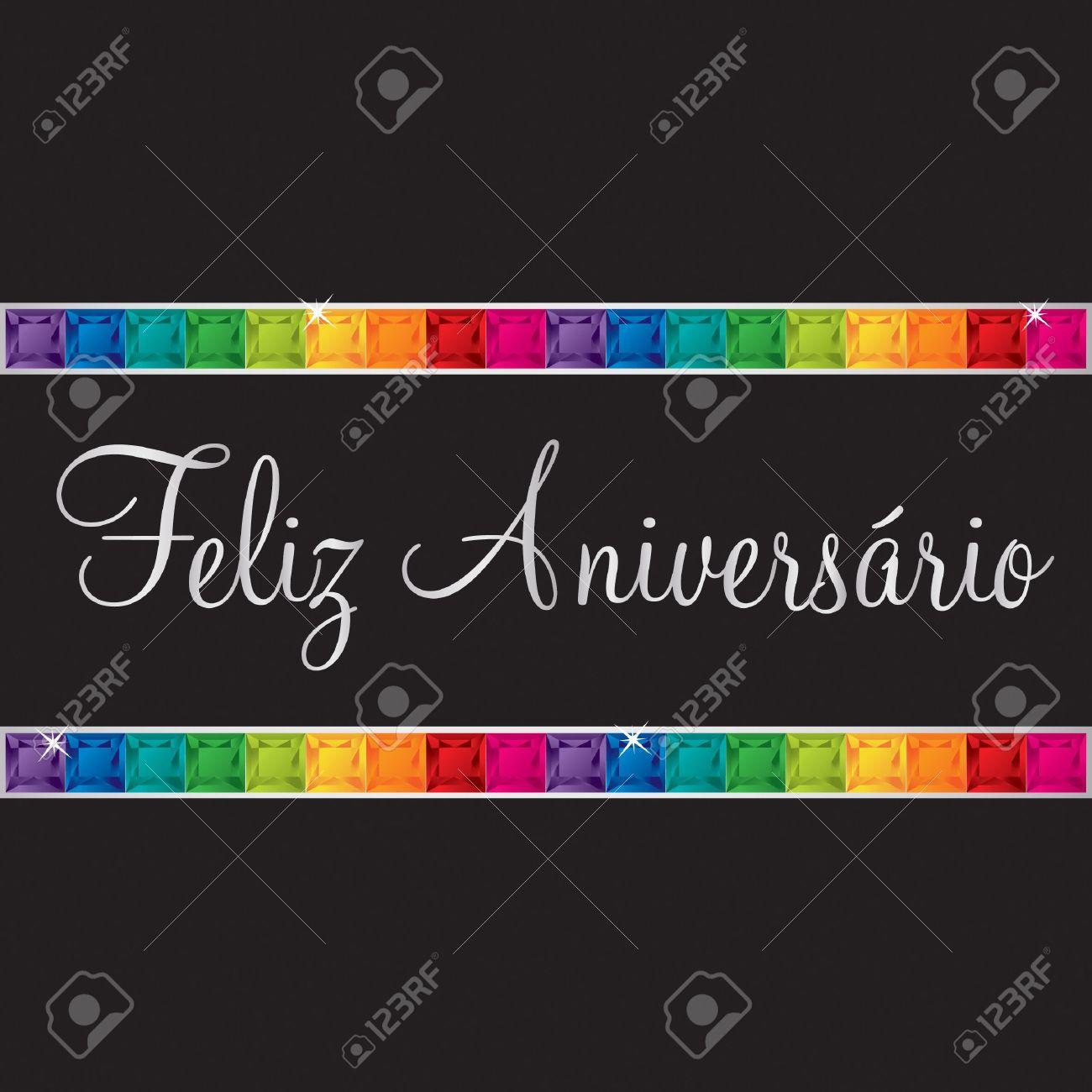 Portuguese Happy Birthday Card In Vector Format Royalty Free – Portuguese Birthday Cards