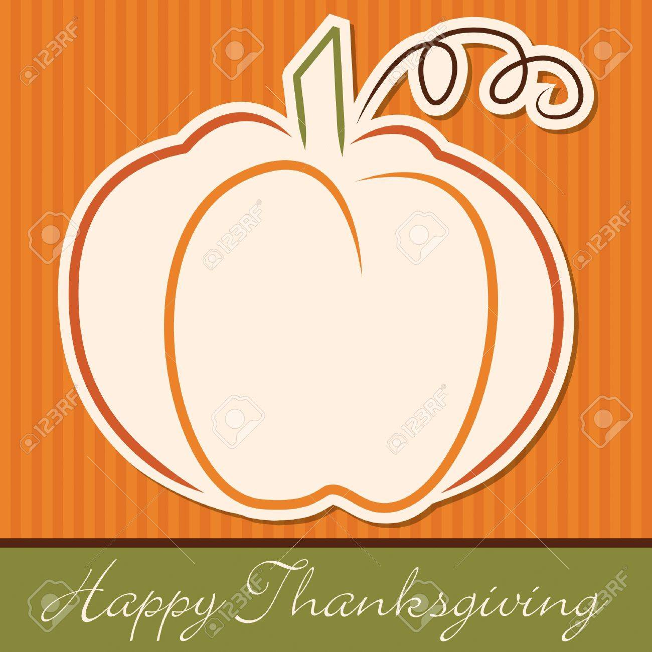 Hand drawn pumpkin Thanksgiving card in vector format Stock Vector - 19469386