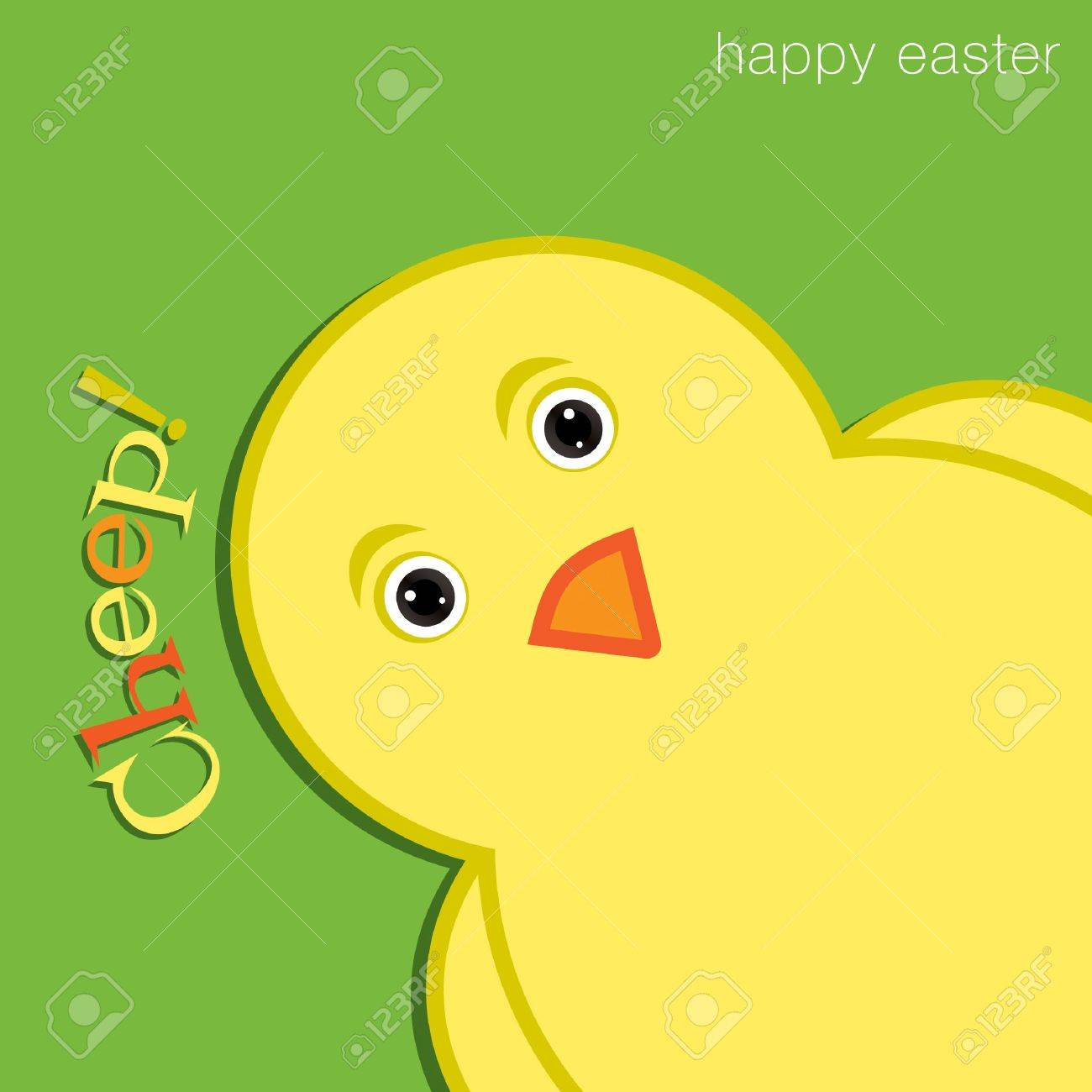 Cheep  Chick Happy Easter Card Stock Vector - 19511161