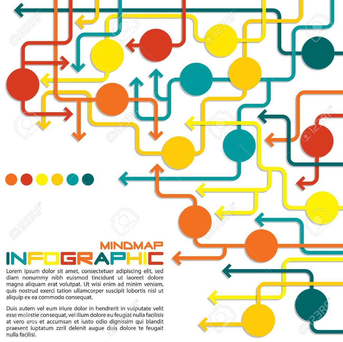 maze of arrows info graphic mind map flowchart in vector format