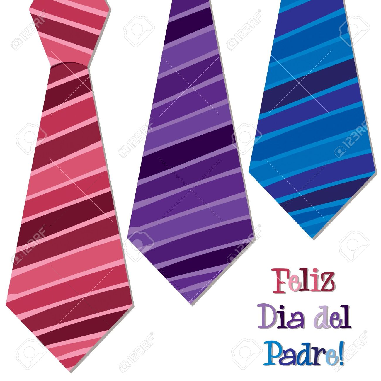 Bright Spanish  Happy Father s Day  neck tie card in vector format Stock Vector - 19644472