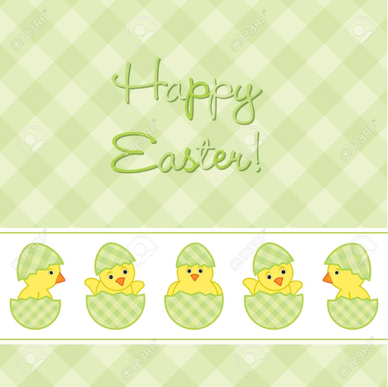Baby Chicks Easter card in vector format Stock Vector - 19734923
