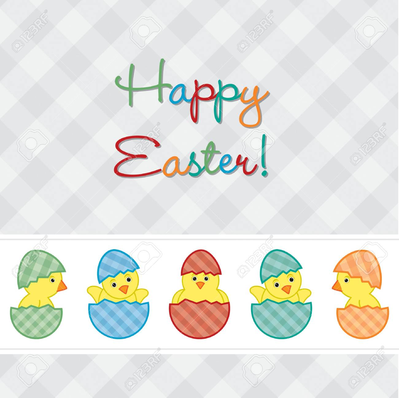 Baby Chicks Easter card in vector format Stock Vector - 19734922