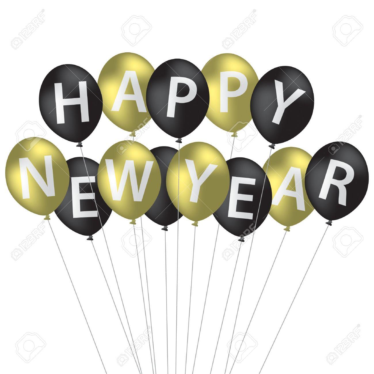Happy New Year Balloons 15