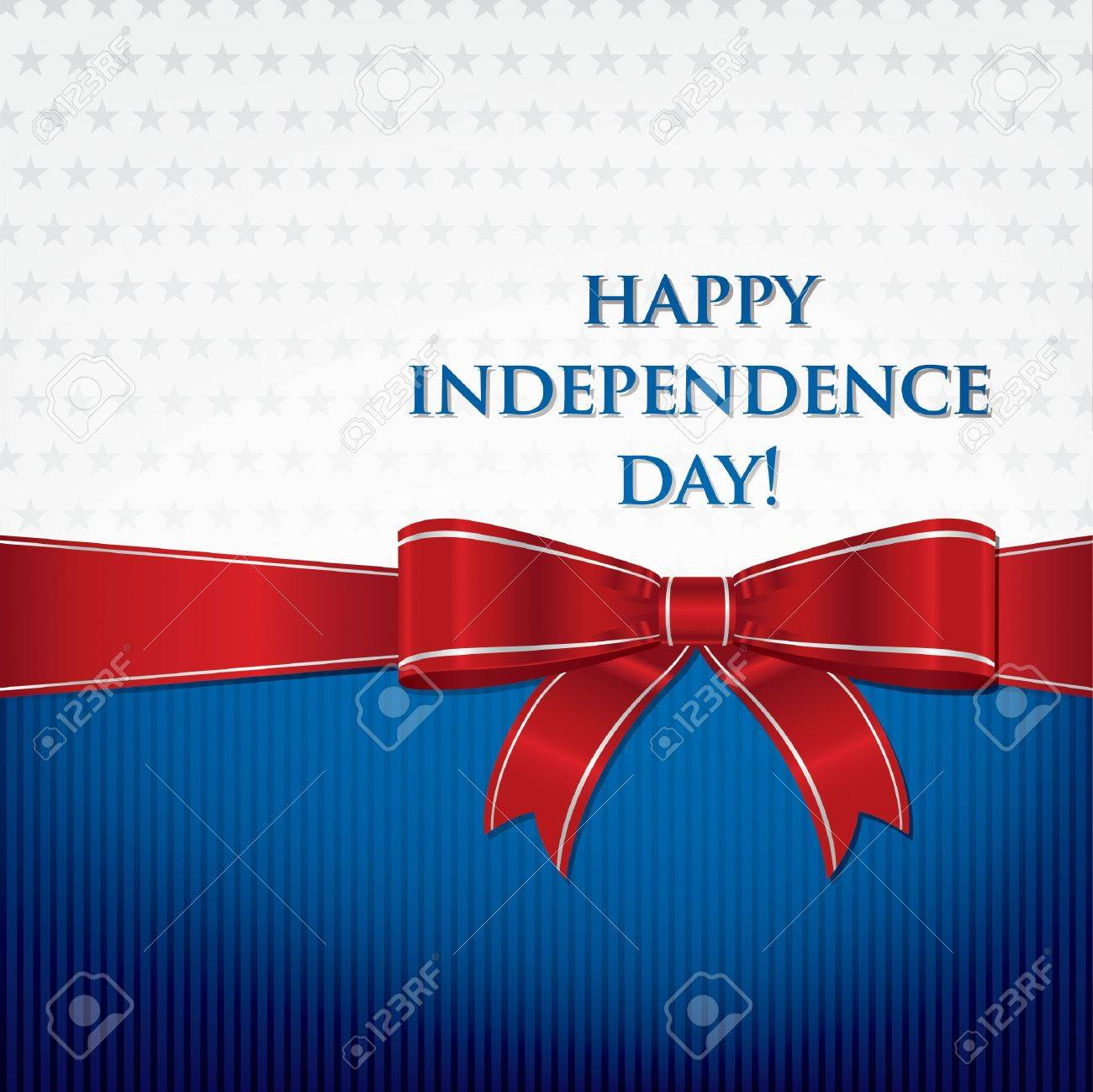 Independence Day  4th of July  card Stock Vector - 19774398