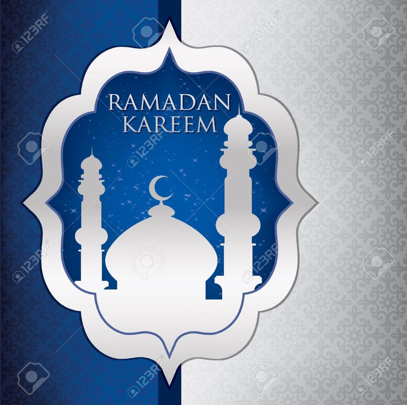 Mosque Ramadan Kareem Generous Ramadan Card In Format Royalty Free ...
