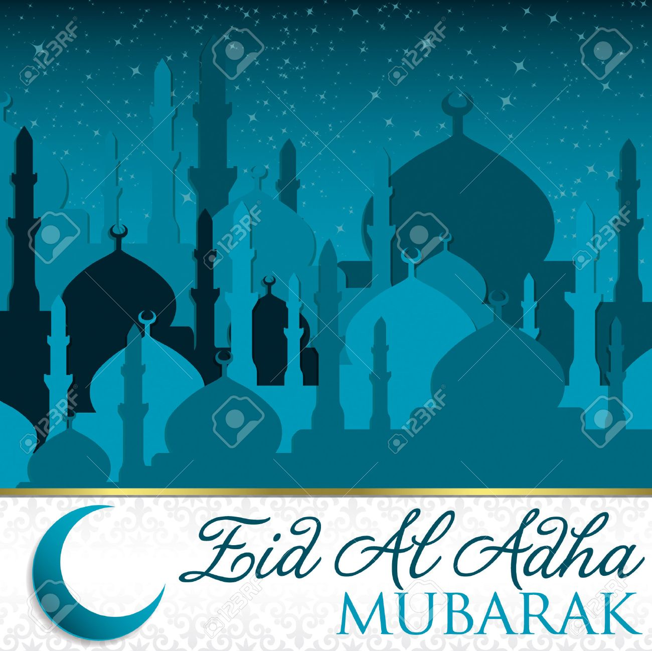 Eid Al Adha card in vector format Stock Vector - 22469503