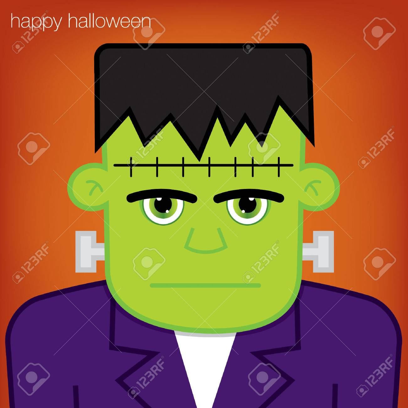 Frankenstein Halloween card in vector format