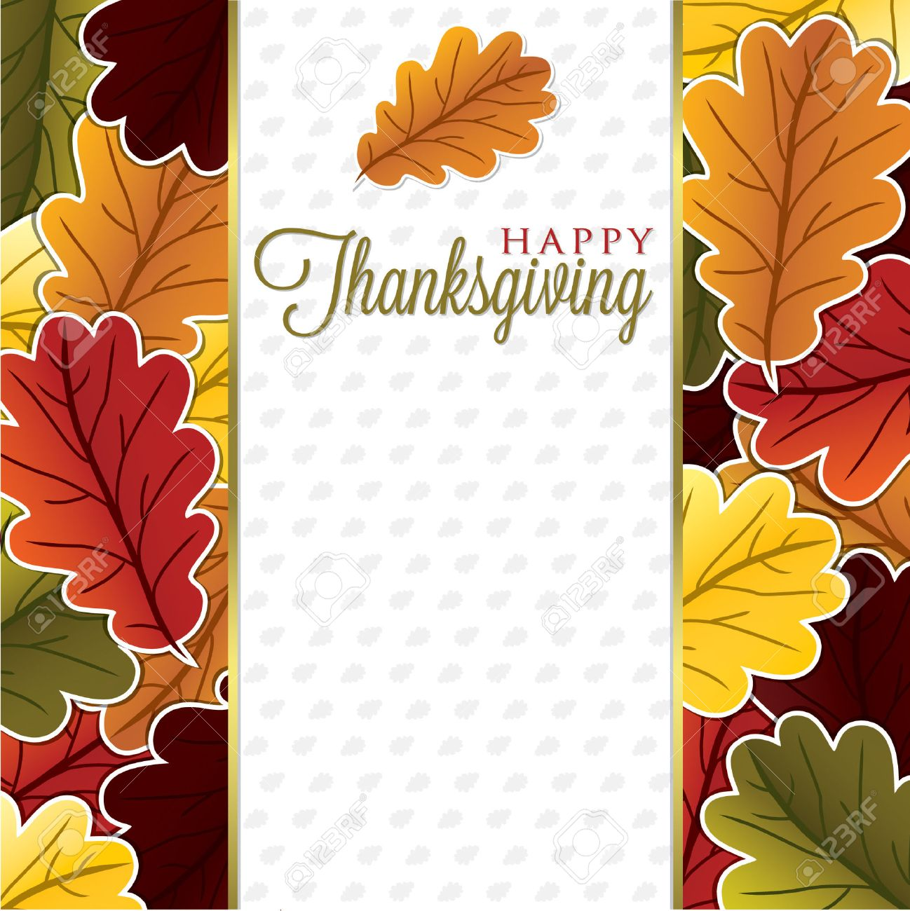 Leaf Thanksgiving card in vector format Stock Vector - 23161189