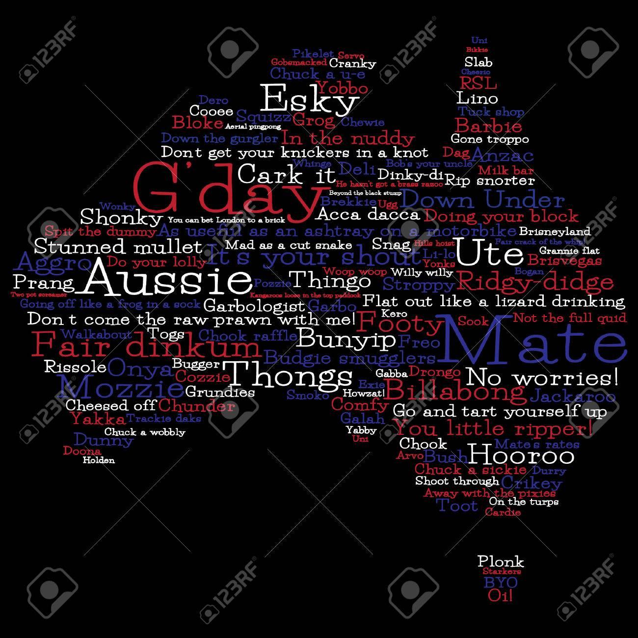 Australia map made from australian slang words in vector format australia map made from australian slang words in vector format stock vector 25118555 kristyandbryce Gallery