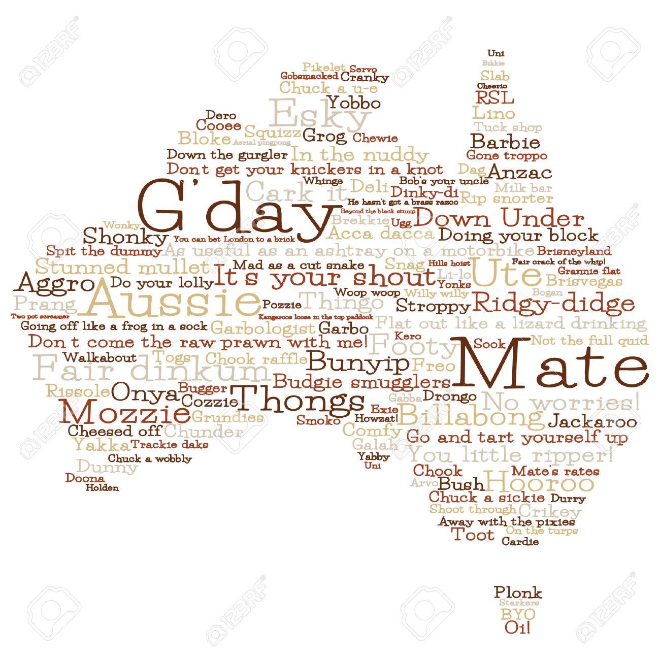 Australia map made from australian slang words in vector format australia map made from australian slang words in vector format stock vector 25118556 kristyandbryce Gallery