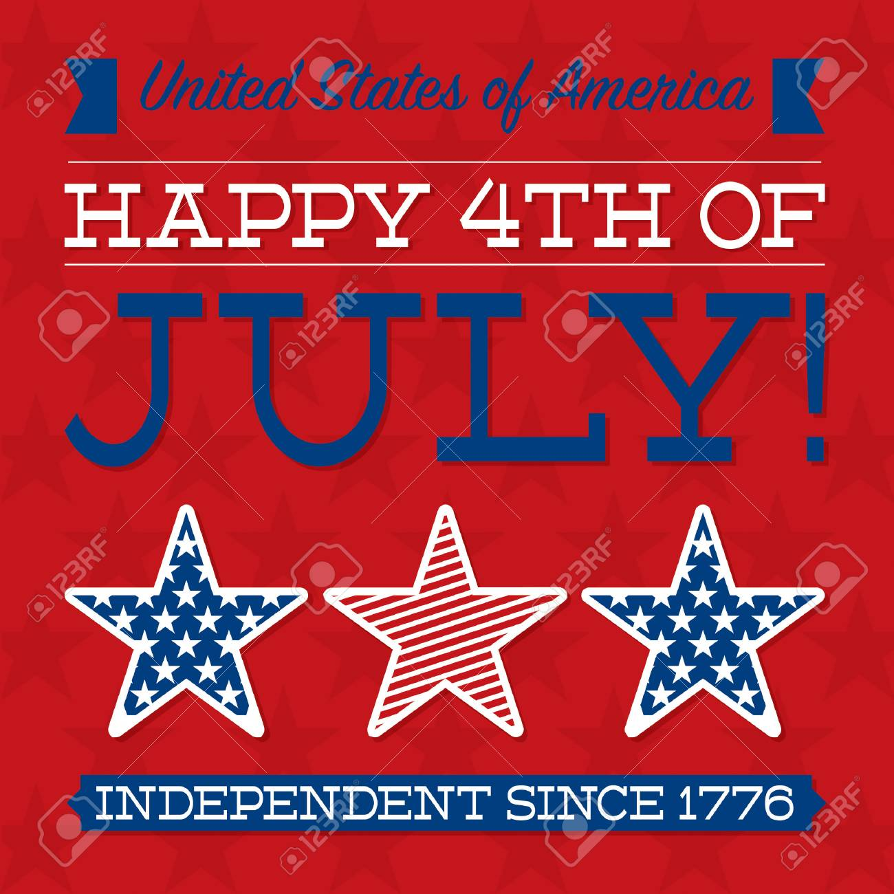 Retro Independence Day card in vector format Stock Vector - 28485837