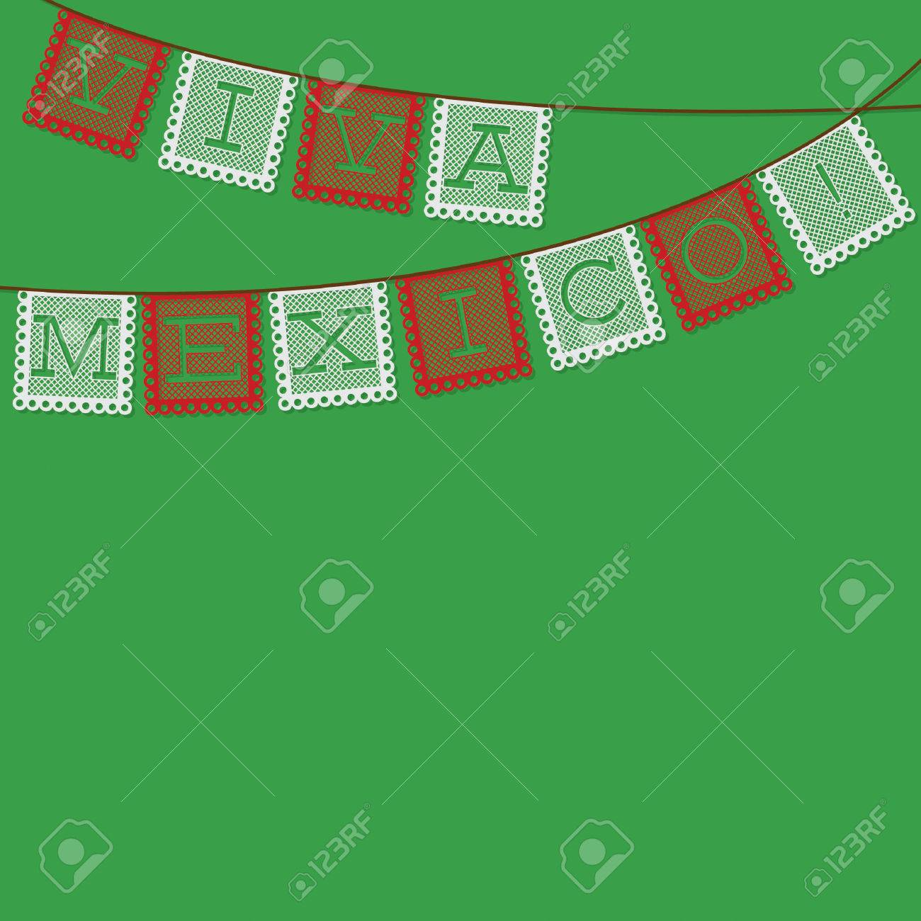 Mexicaine Papel Picado Livre Drapeau Decoration Carte Au Format
