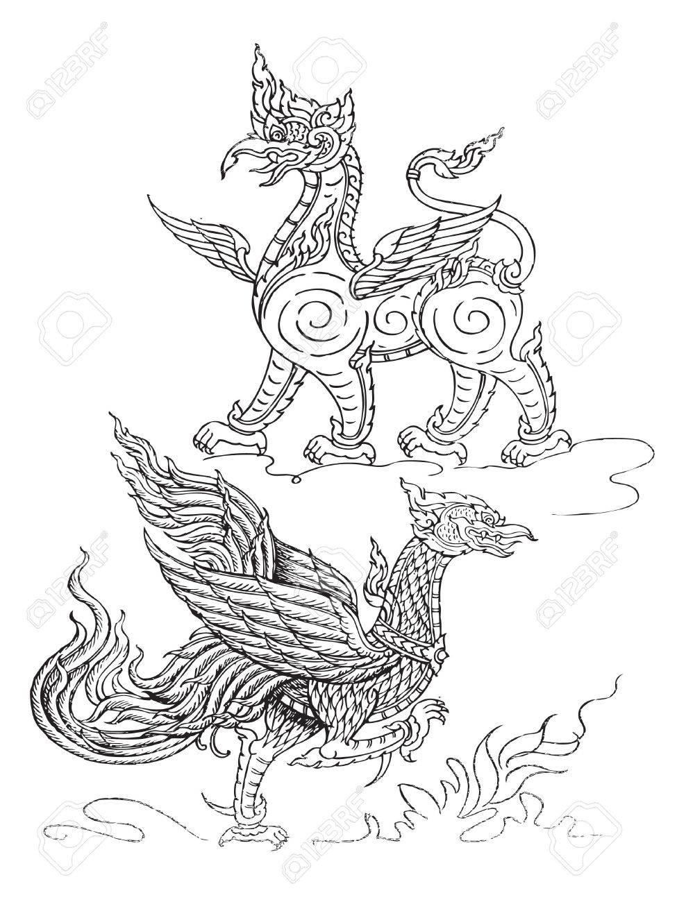 animal art thai Stock Vector - 17444010