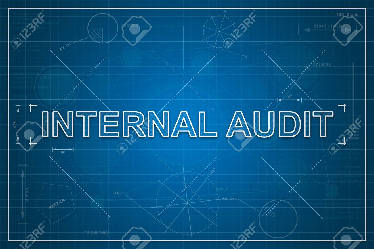 Internal audit on paper blueprint background business concept stock internal audit on paper blueprint background business concept stock photo 65885308 malvernweather Image collections