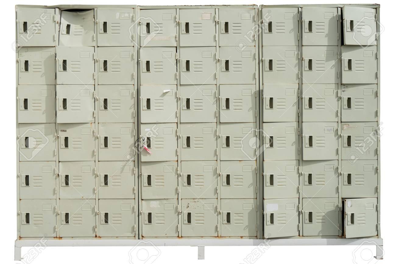 Isolated Lockers On White Background