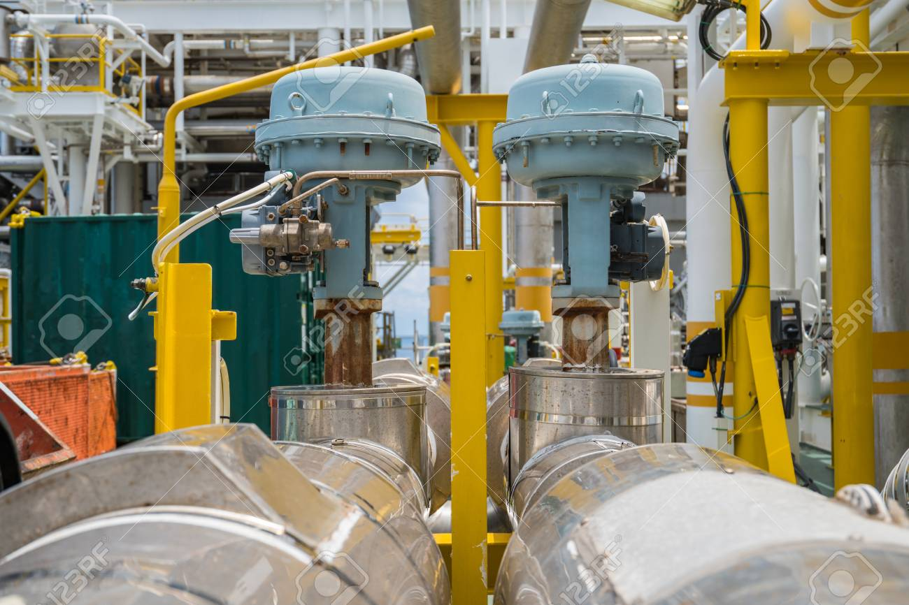 Fail to close type of actuated control valve in oil and gas central