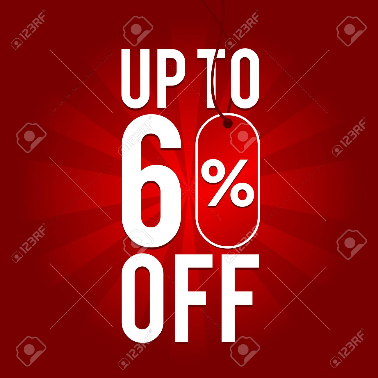 f492be525 Sale up to 60% off on red background. Stock Vector - 93464886