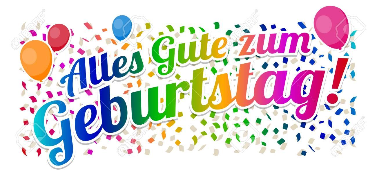Alles Gute Zum Geburtstag Happy Birthday Vector Royalty Free