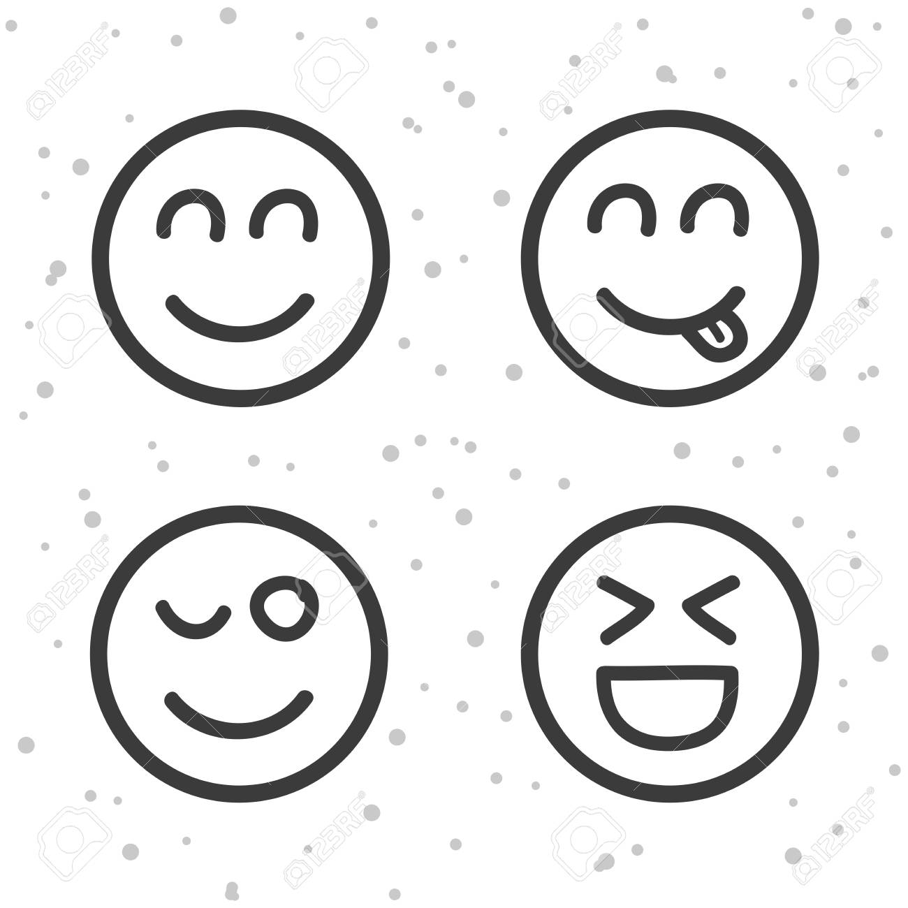 Happy Smiley Icons Laughing Emoticons Symbols Royalty Free