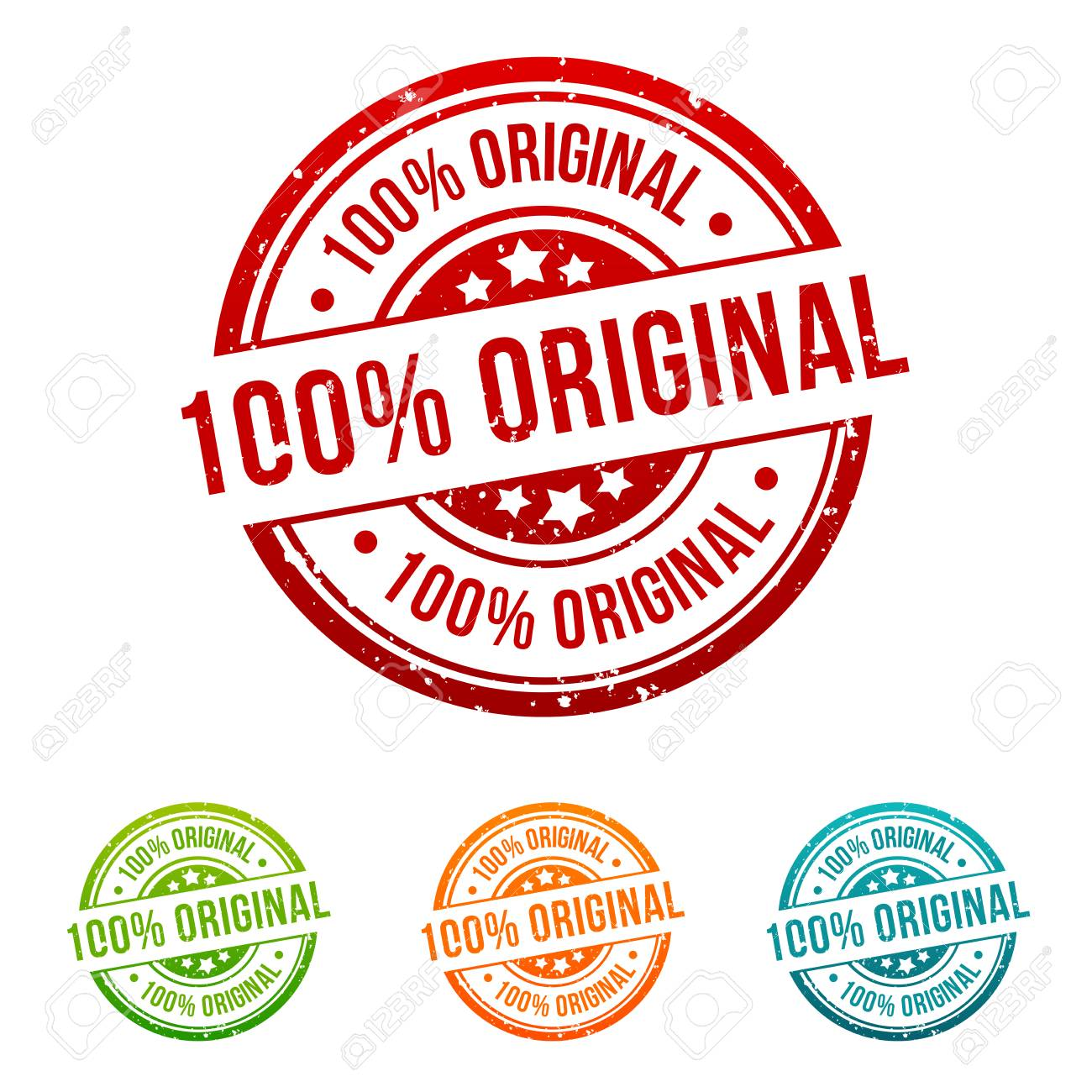 more photos 3ae03 36bb7 100% Original Stamp Button Banner Badge in different colours. Stock Vector  - 111886143