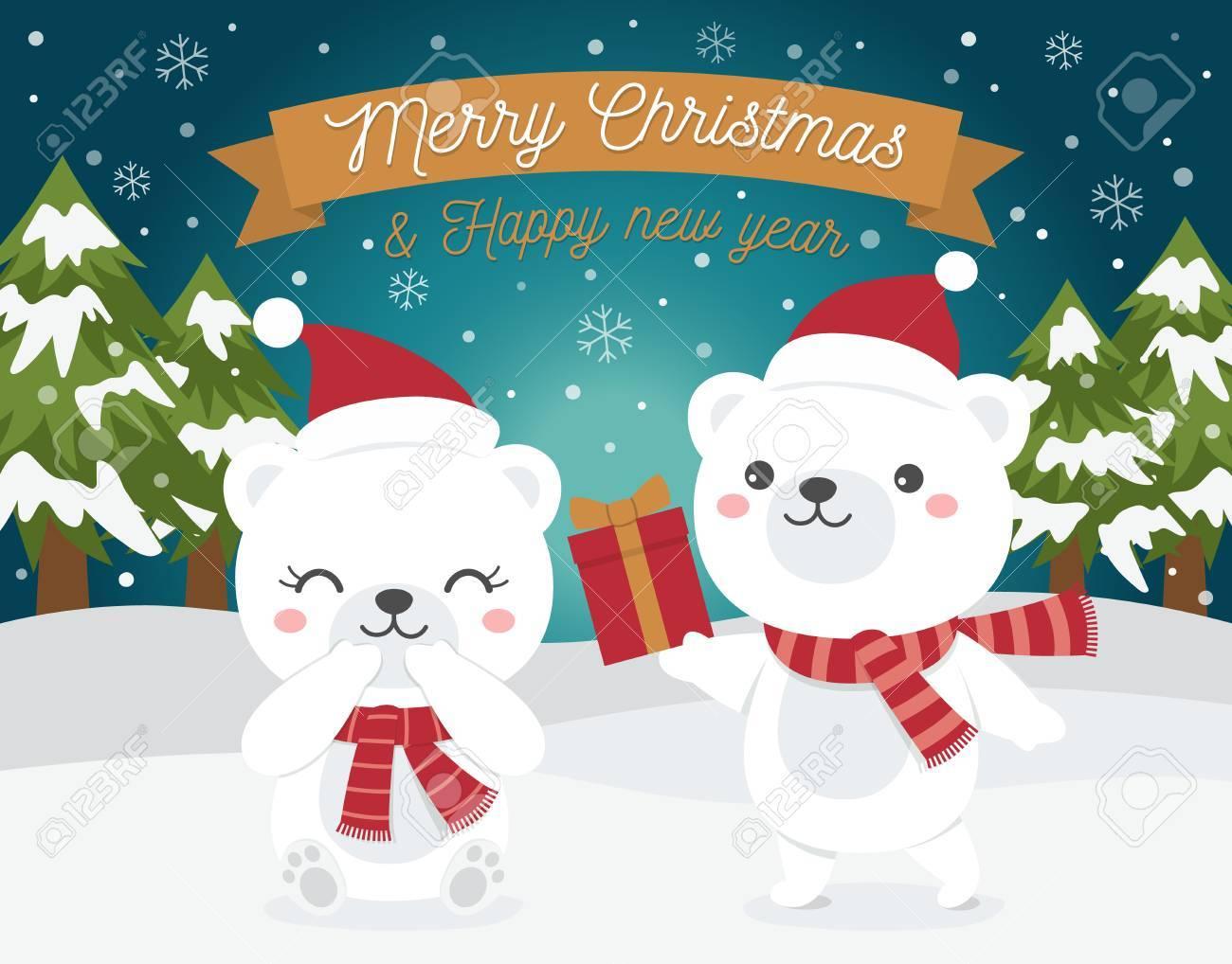 メリー クリスマスと新年あけましておめでとうございますカードの
