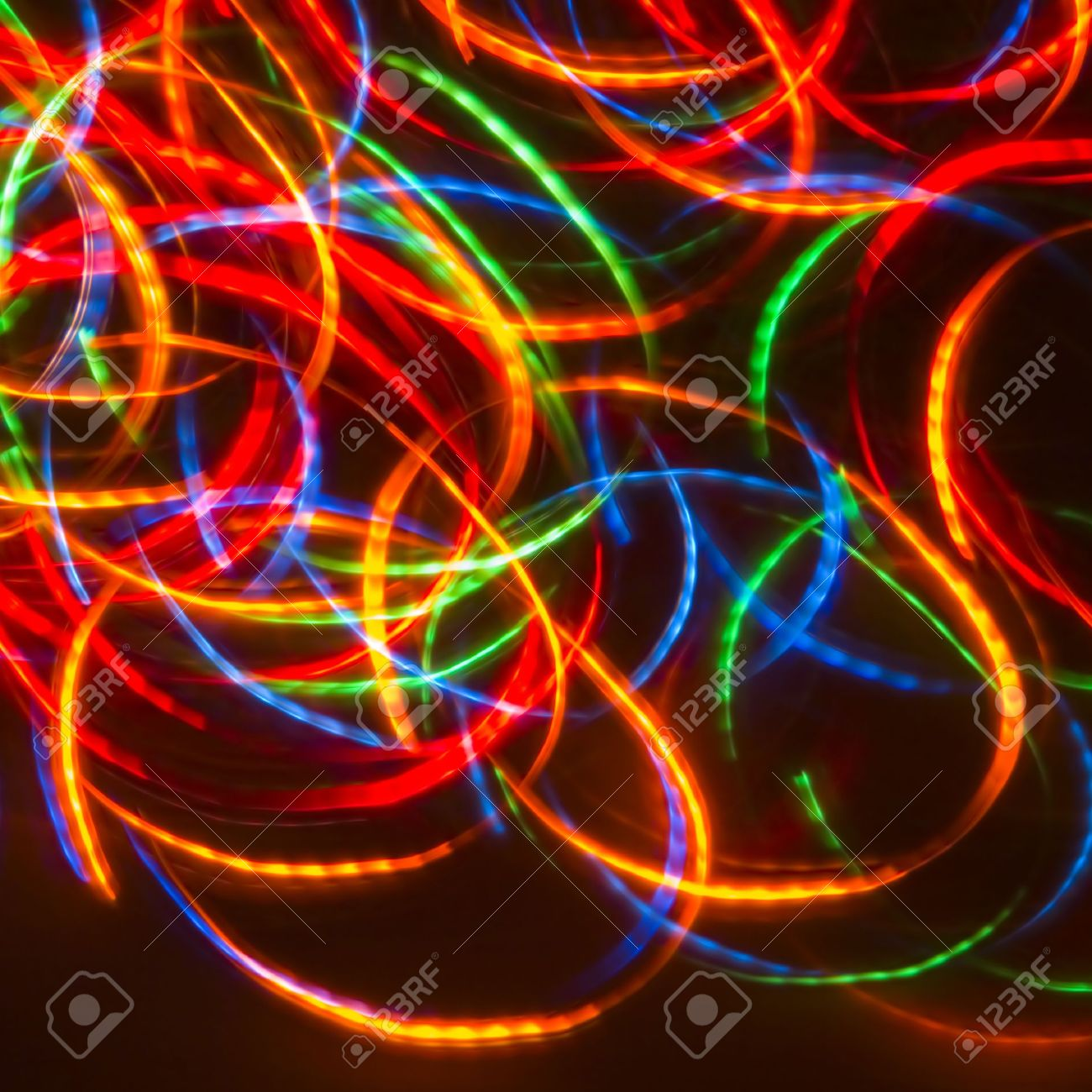 Dancing Neon Disco Lights (Ideal For CD-cover) Stock Photo - 591547