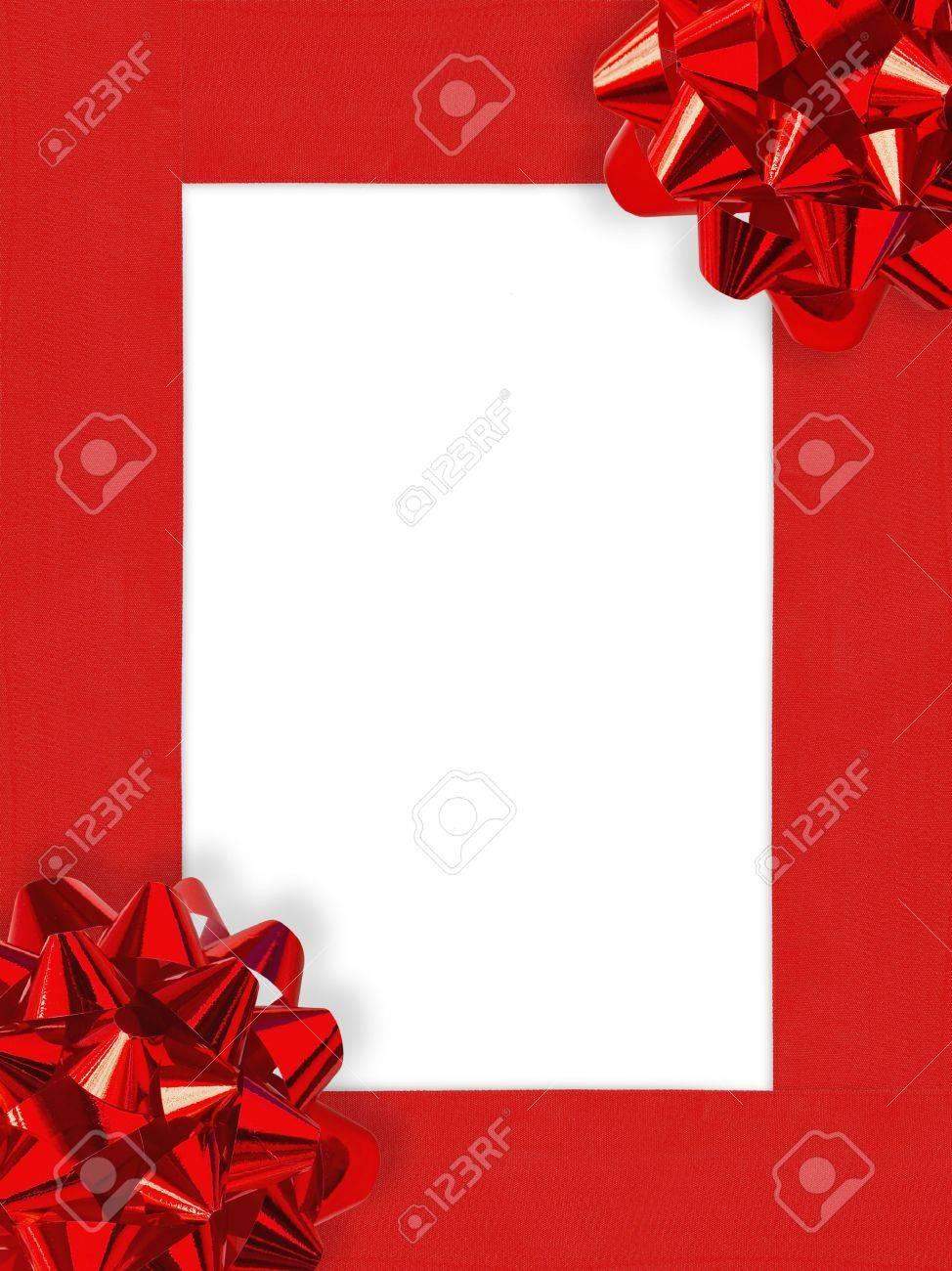 Ribbons&amp,Bows Christmas Frame Stock Photo - 633314