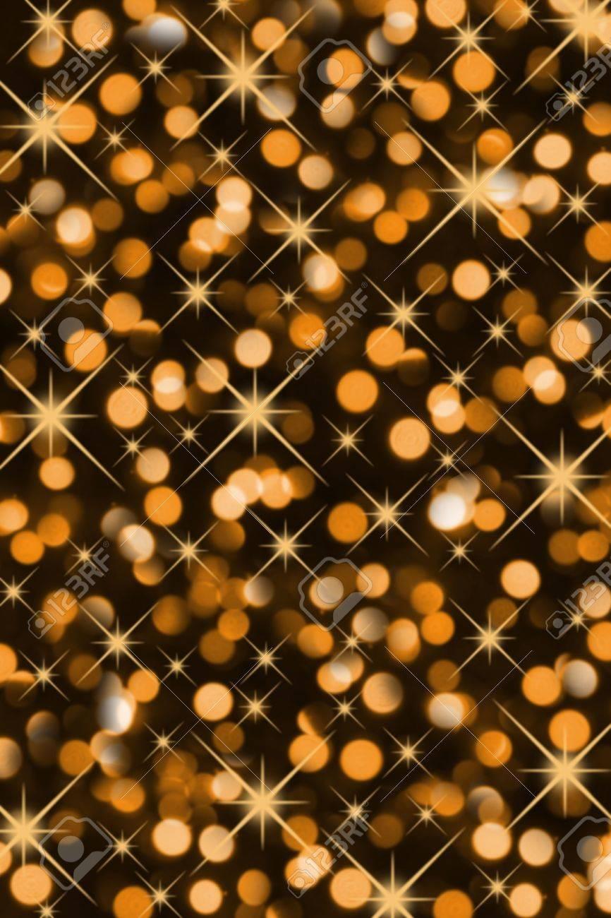 Golden Magic Christmas Lights (Blurry Closeup) Stock Photo ...