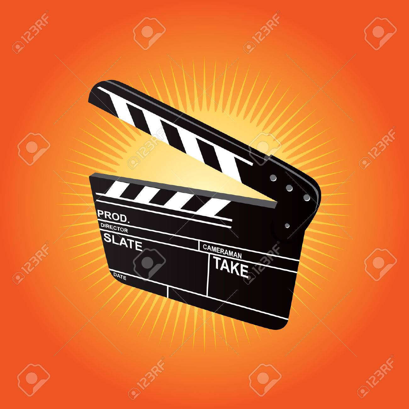 Film Clapboard Stock Vector - 1674523
